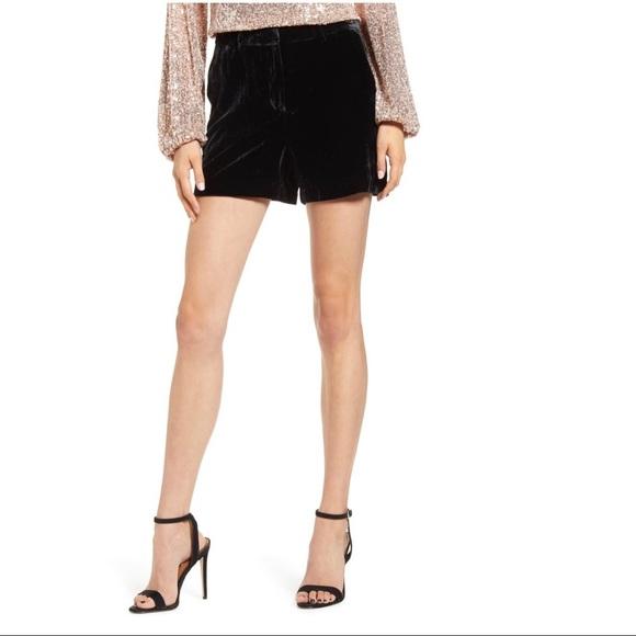Gianni Bini Pants - Gianni Bini Velvet High Waisted Shorts